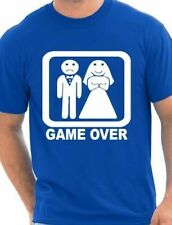 Game Over  Funny Wedding/Stag Do  Mens T-Shirt Size S-XXL