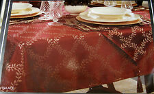 """CROSCILL HOME  """" PALACE"""" TABLE LINEN -RED - ASST.  SIZES- 100% POLYESTER-"""