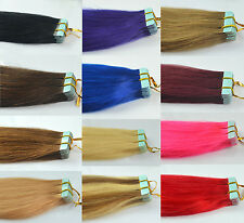 "16""18""20""Straight Or Wavy Remy A Tape 100% Real Human Hair Extension In US Stock"