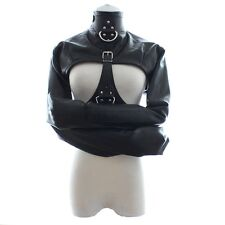 Leather Body Harness Bondage Cupless Straight Jacket Gay Fetish Gimp Restraint