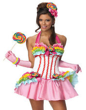 Lollipop Candy Sweet Sugar California Girl Sexy Womens Party Costume XS-L