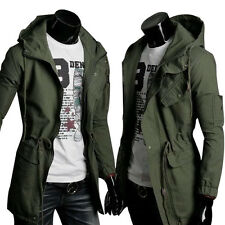 DISCOUNT Solid Military WINTER STYLE Hooded Men Coat Jacket Outwear Blazer Parka