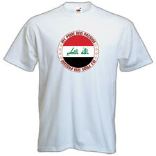 NEW Printed T-SHIRT, IRAQ My PRIDE My PASSION FLAG, All Sizes, All Colours