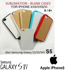 10xBlank Dye Cases Sublimation iPhone 4/4S/5/5C/5S 6 +/Galaxy S3/S4/S5-Rubber/Pl