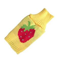 Dog Clothes Pet Winter Woolen Sweater Knitwear Puppy Warm Strawberry Coat