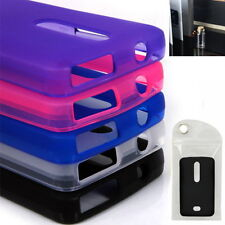 Glossy Frosted TPU GEL Case Cover w/phone accessories for Nokia Asha 501, RM-899