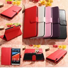 Magnetic Flip Leather Wallet ID Card Holder Case Cover Stand For HTC Desire 816