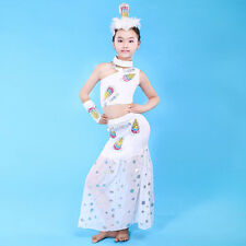 Little Girls peacock costume belly dance costume performance clothing UA0006