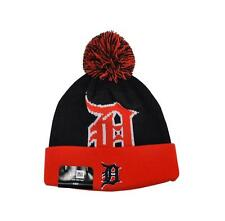 NEW ERA Beanie Winter Knit Cold Weather Hat Detroit Tigers Navy Blue Youth Size
