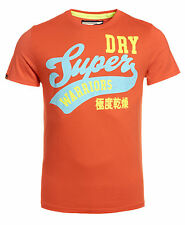 New Mens Superdry Factory Second Warriors Entry T-Shirt Fluro Red