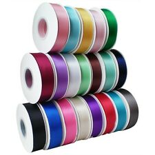 5/25yards Double Faced Sided Satin Ribbon wedding decoration bows 3/6/9/16/38mm