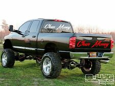 CLEAN MONEY vinyl decal sticker dirty turbo diesel dodge funny chevy ford truck