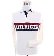 Tommy Hilfiger Men Long Sleeve Logo Classic Fit Rugby Polo Shirt - Free $0 Ship