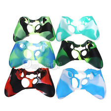 Funny Camouflage Silicone Handle Cover Case Skin for Xbox360 Wireless Controller