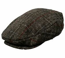 STETSON Charcoal Gray HARRIS TWEED Scottish WOOL IVY CAP Newsboy Cabbie Hat Golf