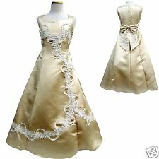 New Girl Dress National Pageant Wedding Easter Party Dress 6 8 10 12 Champagne