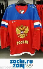 Men's Official Hockey Jersey Russian Team Olympic Games Sochi Russia Embroidered