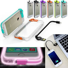 Hot High Speed Charge USB Cable Flash Light Up Case For iPhone 5 5S 4 S 6 Plus