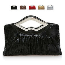 Womens Tote Evening Handbag Sequin Prom Wedding Party Shoulder Chain Bag Purse