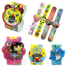 Cartoon Children Kid Cool Boy Cute Girl Bendable Strap Quartz Sports Wrist Watch