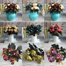 Home Craft Gift Floral Valentine Silk Flowers Party Bridal Rose Decor Bouquet