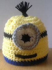 New Crochet Hat Minion Despicable Me All Sizes from Baby to Adult