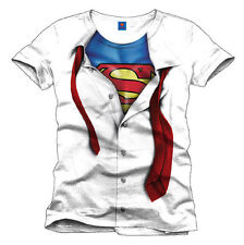 SUPERMAN CLARK KENT SUPER BLOUSE KOSTÜM HERO SUPERHELD MÄNNER MENS T-SHIRT