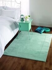Tuscany Siena Duck Egg Blue Supersoft Wool Rug in various sizes