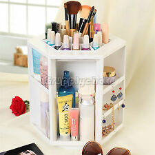 Tabletop Revolving Lipstick Cosmetic Organizer Makeup Storage Case Spinning Rack