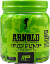 MusclePharm Arnold IRON PUMP Pre-Workout Nitric Oxide 60 Servings CHOOSE FLAVOR