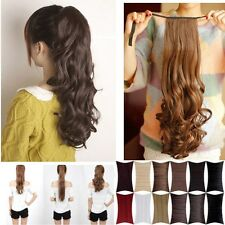 premium synthetic straigh tcurly Ponytail Pony Tail clip in Hair Extensions W19