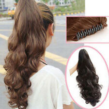 Sexy Women long CLAW Pony tail Clip in Hair Extensions straight wave Ponytail WE