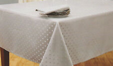 BELLA LUX SILVER SHIMMER SPARKLE DOTS 60X102 TABLECLOTH