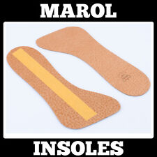 REAL LEATHER INSOLES 3/4 SHOE INSERTS PADS BOOTS SIZE UK 3,5 to 7,5 EU 36 - 41