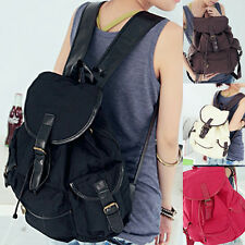 Men/Womens Vintage Canvas backpack Satchel College Bookbag Weekend Purse LA FAST