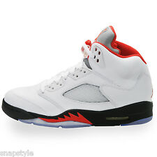 New AIR Jordan 5 Retro - 136027 100 Fire Red 5s - White Red Black 2013 Release