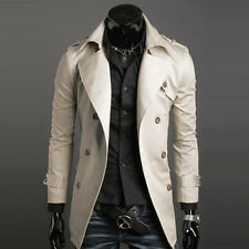 New Mens Fashion Slim Fit Coat Winter Jacket Warm Long Trench Overcoat Outerwear