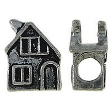 House European Charm Bead Home Family Two Story Dream Building Moving Memory
