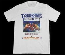 Tyson Vs Spinks fight poster White T-Shirt Size S-XXXL heavyweight boxing floyd