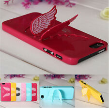 3D Cute Angel Wings Design Hard Back Case Cover with Stand Apple iPhone 5 5s HI