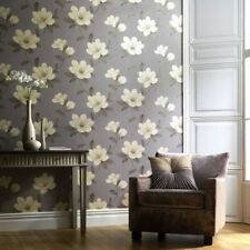 Red/Stone/Purple Magnolia Wallpaper - Sophie Conran - Arthouse Wallpaper