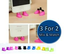iPhone SHOES Mobile Phone Holder Stands Dust Plug Charm For iPhone 5/5s 5C 6