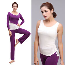 Trending High Quality Purple&White Yoga Set Clothes Fitness/Exercise Promotion