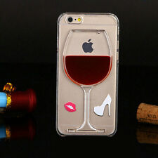 Liquid Quicksand wine glass cocktail bottle Phone Case Cover for iPhone 6 4.7""