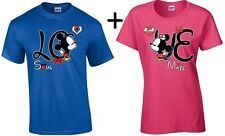Couple Matching T-SHIRT Mickey Minnie Kissing LOVE Kissing Couple Shirts