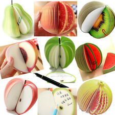 150P Fruit Vegetable Food Shape 3D Memo Note Sticker Flags Bookmark Pad Writing