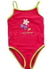 Girls Pink Flower Swimsuit / Swimming Costume 18-24 Months 2-3 4-5 5-6 6-7 Years