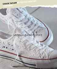 PRE ORDER Converse All Star Crochet 2015 Bianche White Crocetta Basse Low 549314