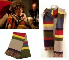 New Doctor Who Scarf Cosplay Fourth 4th DELUXE Tom Baker Striped tn1