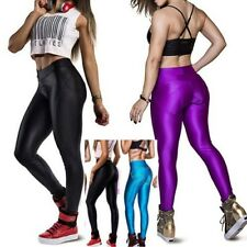 Women's Push Up Athletic Apparel Pants Contrast Leggings Yoga Sport Size M/L